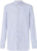 Isaia gridded long-sleeved shirt