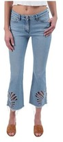 3x1 Women's Freja Cropped Bell-Bottom Jeans in Elkhorn