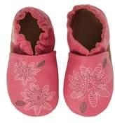 Robeez R) Fiona Flower Moccasin Crib Shoe