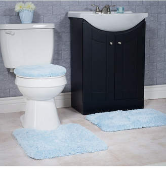 Baldwin Home 3 Piece Super Plush Non-Slip Bath Mat Rug Set Bedding