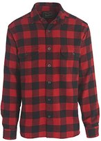 Woolrich Men's Long Oxbow Bend Plaid Flannel Shirt