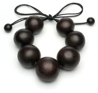 Natori Acacia Wood Round Necklace