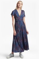 French Connection Frances Drape Printed Maxi Dress