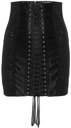 Dolce & Gabbana Satin miniskirt