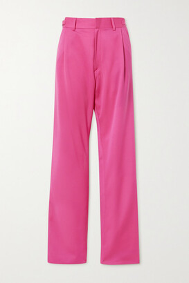 GmbH Tarek Pleated Wool Tapered Pants - Pink