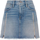 Frame Le High Zip Detail Mini Skirt