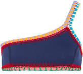 Kiini Tasmin Crochet-trimmed Bikini Top - Navy