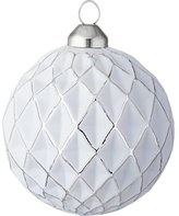 CB2 Glow Matte Gray Ball Ornament