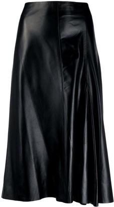 Joseph godet-insert mid-rise skirt