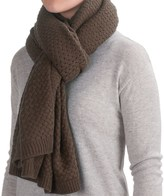 La Fiorentina Oversized Chunky Knit Scarf (For Women)
