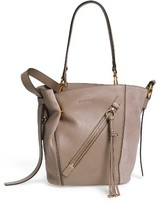 Chloé Small Myer Double Carry Calfskin Leather & Suede Tote - Grey