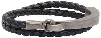 Saint Laurent Black Braided Bracelet