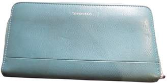 Tiffany & Co. \N Turquoise Leather Purses, wallets & cases