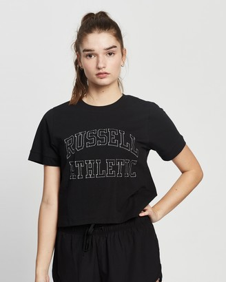 Russell Athletic Arch Logo Embroidered Tee