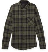 Rag & Bone Fit 3 Checked Stretch Cotton-Herringbone Shirt