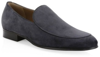 Gianvito Rossi Suede Slip-On Loafer