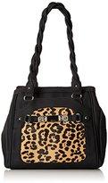 Rosetti Twist It Up Double Handle Leopard Shoulder Bag