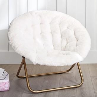 Pottery Barn Teen Polar Bear Faux-Fur Ivory Hang-A-Round Chair