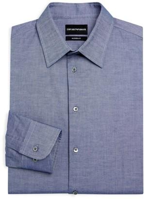 Emporio Armani Modern Fit Chambray Dress Shirt