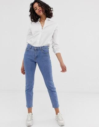Dr. Denim Edie high waisted slim cropped jeans-Blue