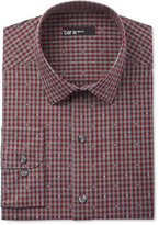 Bar III Men's Slim-Fit Wine Diamond Gingham Dress Shirt, Only at Macy's