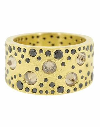 Todd Reed Reverse Set Brown and Black Diamond Ring