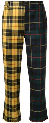 Monse Tartan Check Cropped Trousers