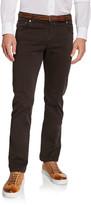 Kiton Men's Twill 5-Pocket Pants, Brown