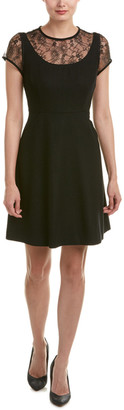 Susana Monaco Selena Wool-Blend A-Line Dress