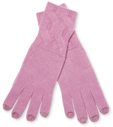 Qi Cable Stitch Cashmere Gloves