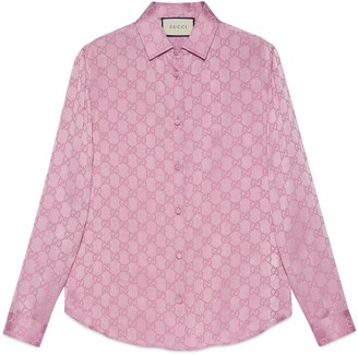 Gucci GG crepe de Chine silk shirt
