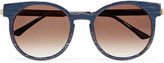 Thierry Lasry Painty round-frame acetate and metal sunglasses