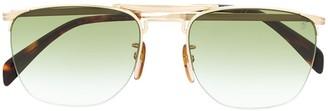 David Beckham Half Frame Squared Sunglasses