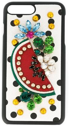 Dolce & Gabbana fruit embellished iPhone 7 plus case