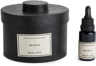 Humus scented lava stones