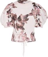 Brock Collection Takako Floral-Print Cotton Top