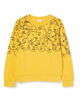 Name It Girls' NKFLEMONI LS SWE UNB Box Sweatshirt