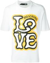 Love Moschino logo print T-shirt - men - Cotton - XS