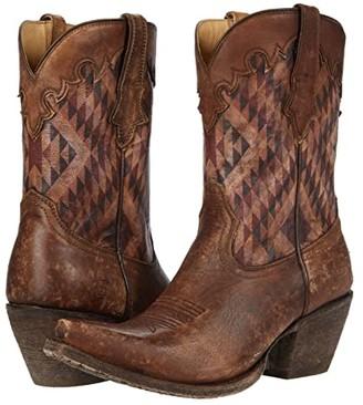 Ariat Circuit Gemma (Distressed Natural/Aztec Print) Cowboy Boots