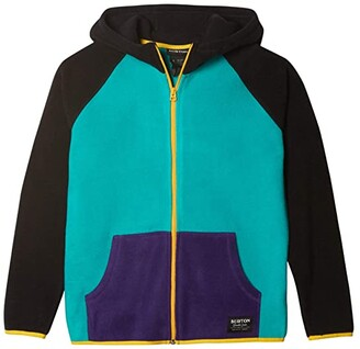 Burton Spark Full Zip Fleece Hoodie (Little Kids/Big Kids) (Dynasty Green Multi) Kid's Clothing
