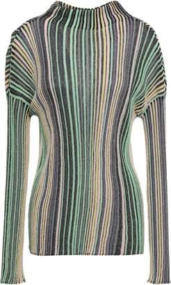 M Missoni Metallic Ribbed-knit Sweater
