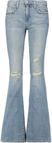 Current/Elliott The Low Bell distressed low-rise flared jeans