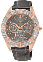 Seiko Women's SKY684 Leather Quartz Watch