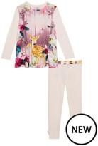 Ted Baker Girls' Pink Woodland Theme Pyjama Set