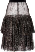 Rodarte Sparkle Tulle Tiered Skirt