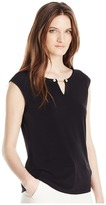 Calvin Klein Sleeveless Top with Pearl Detail Women's Sleeveless