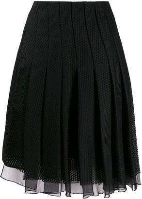 Dorothee Schumacher Pleated Mesh Skirt