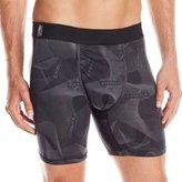 MyPakage Men's Action Flower ME Boxer Brief Underwear Black S