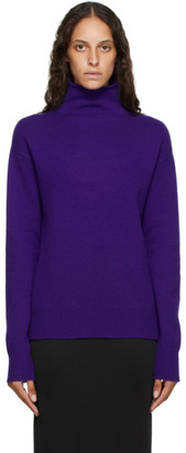 Georgia Alice Purple Pure Cashmere Turtleneck