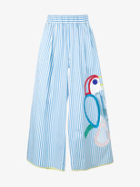 Mira Mikati embroidered wide-leg trousers